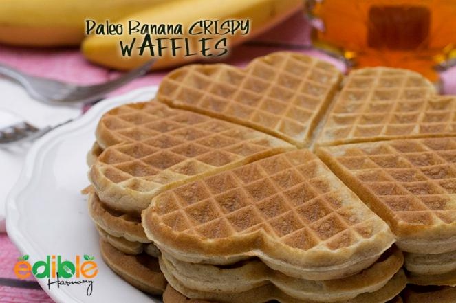 Banana Crispy Paleo Waffles