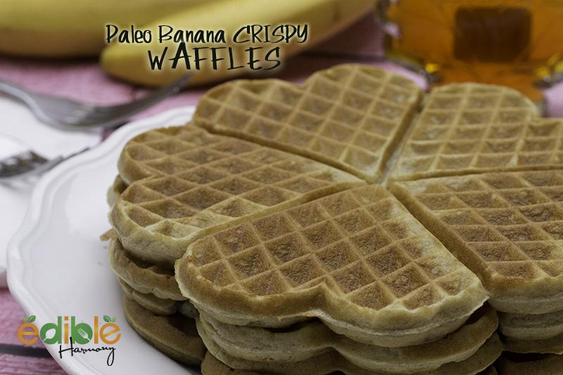 Paleo Banana Crispy Waffles