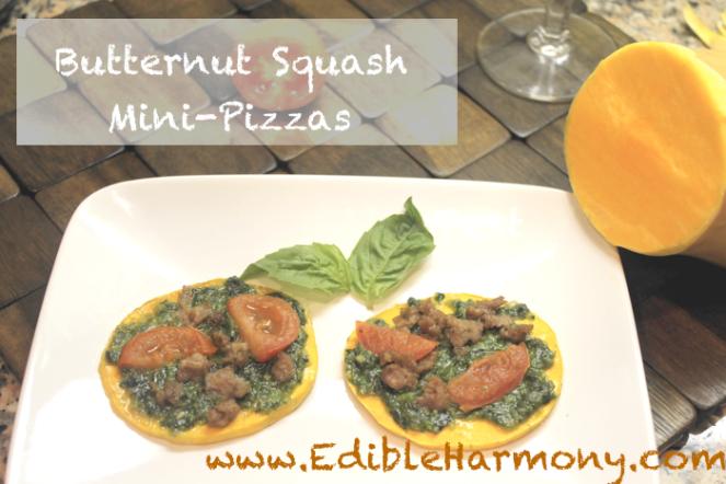 Paleo Butternut Squash Mini-Pizzas