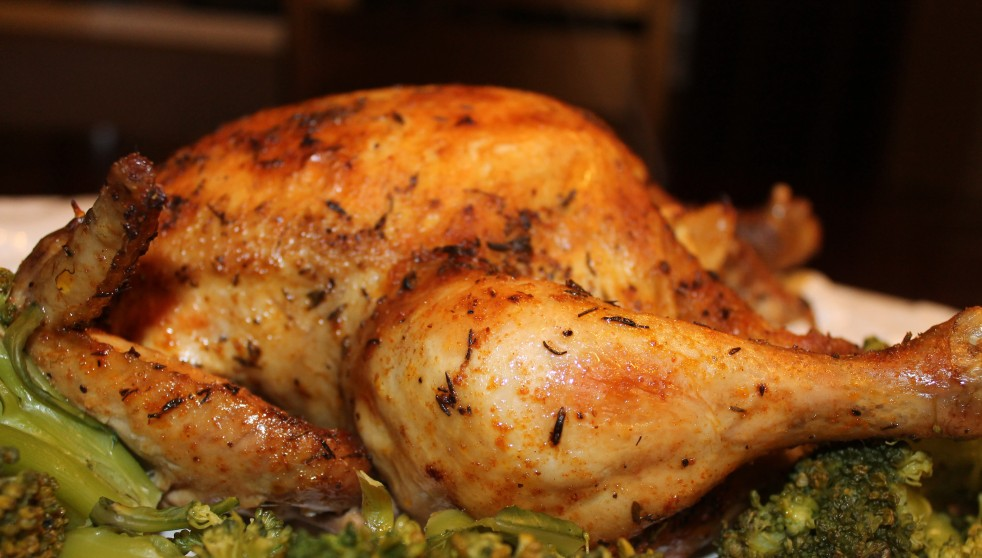 slow cooked roasted chicken
