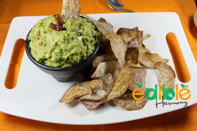 Bacon Guacamole with Paleo Chips