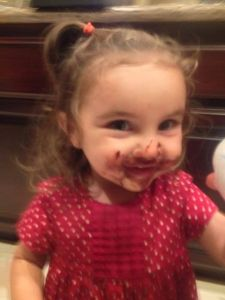 Lucy loves chocolate