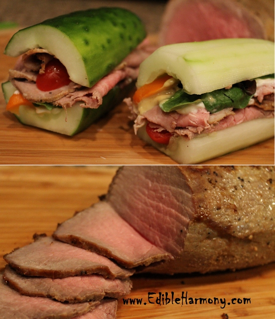 Roast beef Paleo Sandwich