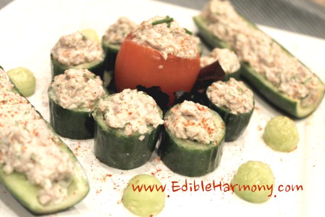 Paleo Chicken Salad Cucumber Cups
