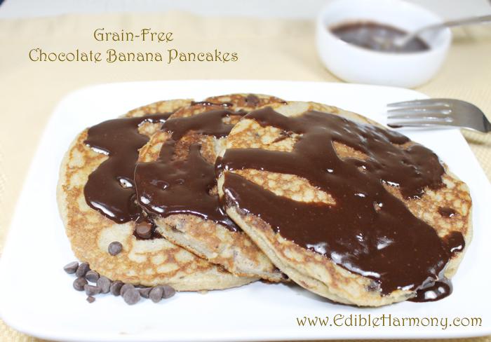 Paleo Banana Chocolate Chip Pancakes