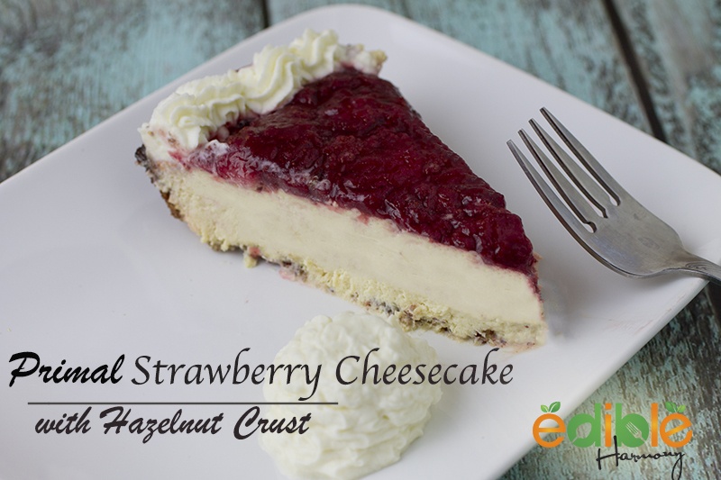 grain-free strawberry cheesecake